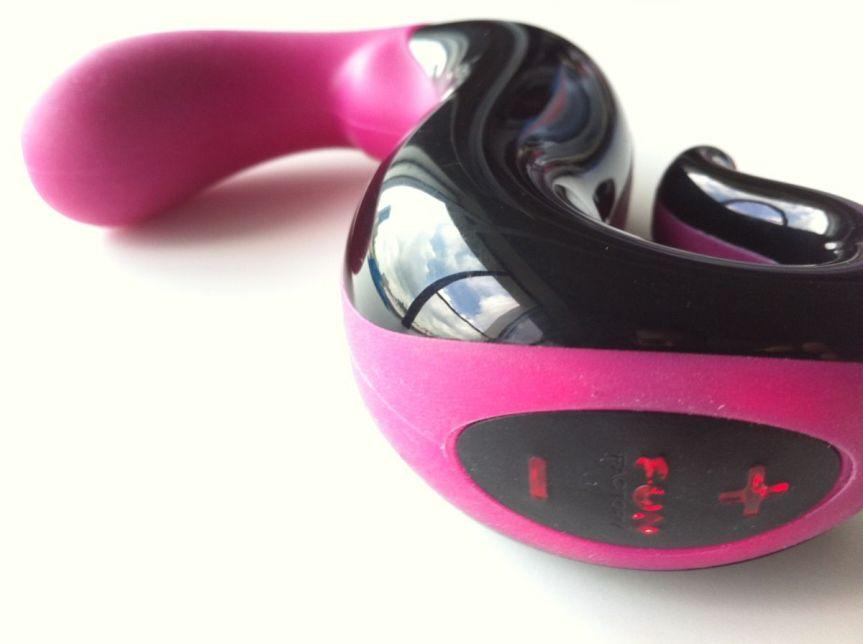 Black and pink vibrator